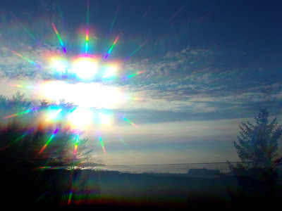 Sun rainbow lens diffraction grating filter