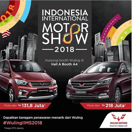 Promo IIMS 2018, Pameran Mobil Wuling Jakarta