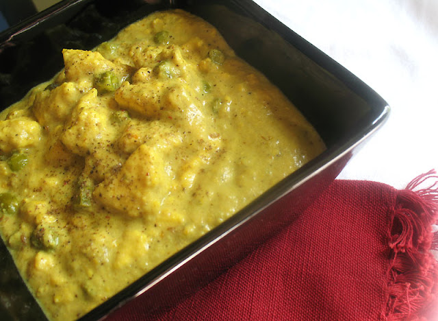 Paneer Cheese with a Coconut Milk Gravy