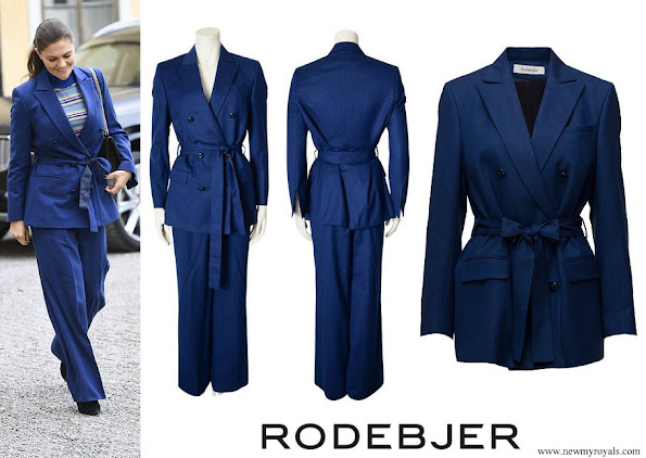 Crown Princess Victoria wore RODEJBER Suit Zoe Blazer and darcel trousers