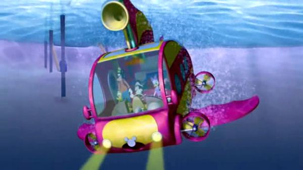 Mickey Lake Clubhouse submarine