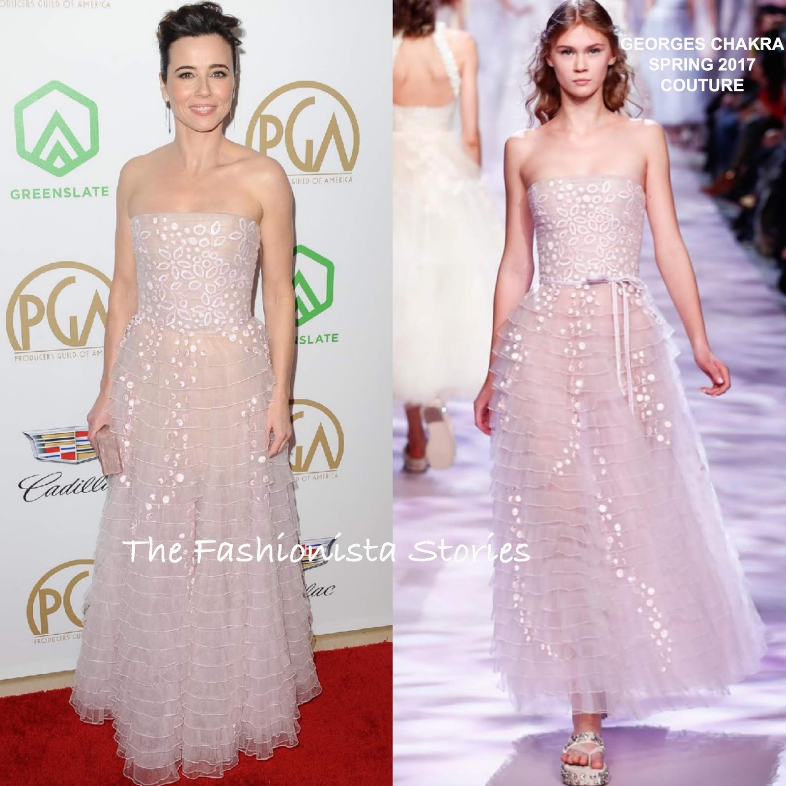 Linda Cardellini in Georges Chakra Couture at the 30th