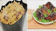 نورا السادات في عمايل إيديا 2-8-2017 طريقة عمل اوراك الدجاج بصوص الترياكي - سلطة مكرونة بالطملطم المجففة والزيتون