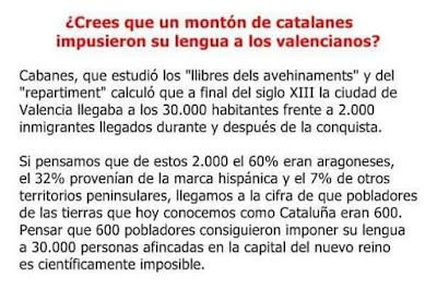 catalanes impusieron lengua valencianos ? Creus que un clapé de cataláns van imposá la seua llengua als valensians ?
