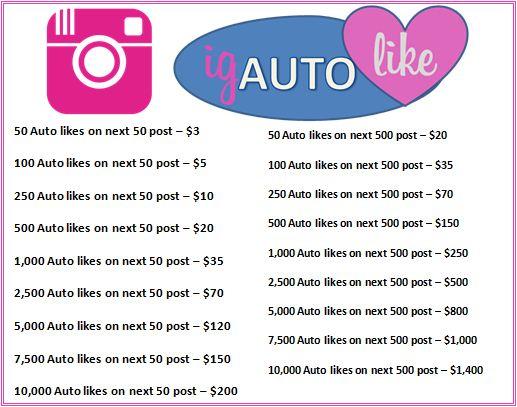 Buy Instagram Auto Likes