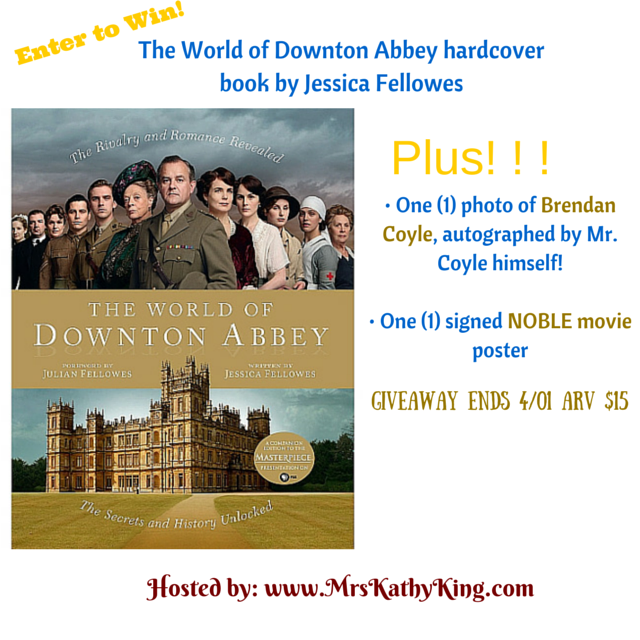 Enter the The World of Downton Abbey Giveaway. Ends 3/31.