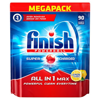 one names of laundry detergent brands, drop to 11.49 GBP,  Finish All-in-1 pack of 90 tablets,