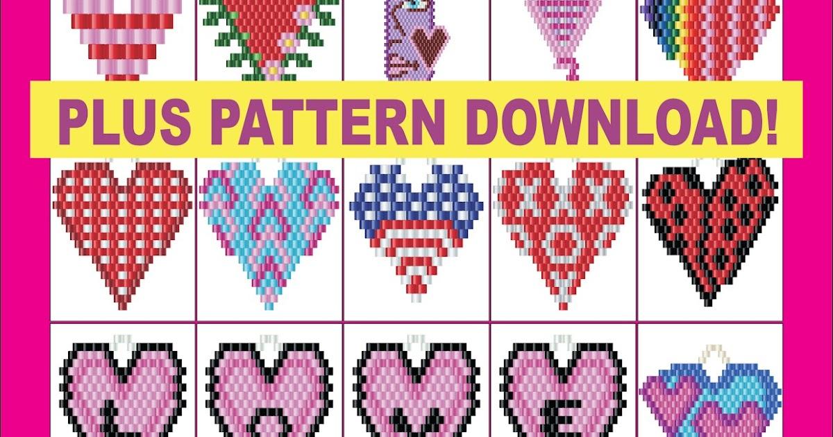 Brick Stitch Bead Patterns Journal: 128 Hearts Pattern Vault