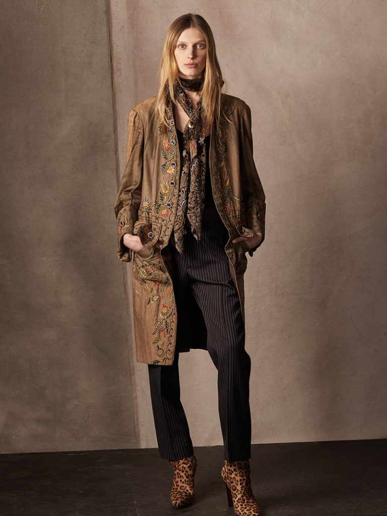Ralph Lauren Collection 'Ezrah' Beaded Camisole, 'Grayden' Wool Pant and 'Wynter' Leopard Haircalf Boot