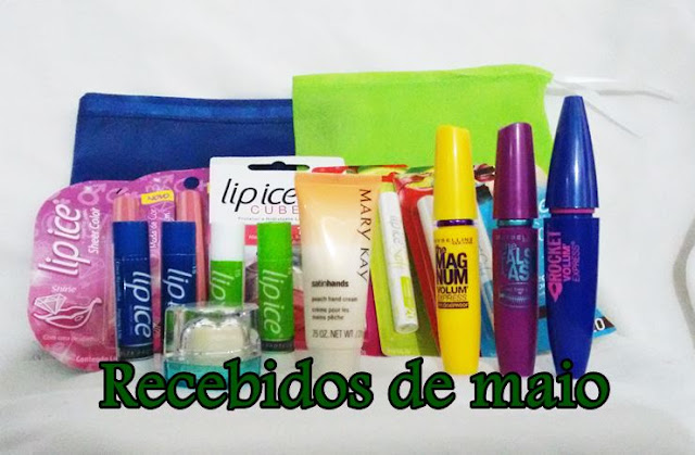 Recebidos de maio: Mary kay, Lip ice e Aliexpress
