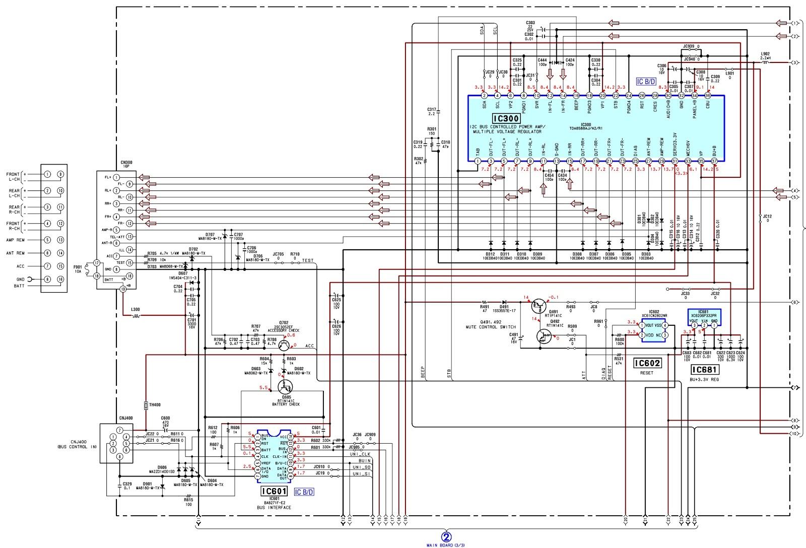 Sony Cdx Gt410u Wiring Diagram Porsche 996 Headlight 30 Images Fig 2 Gt41us Fm Am Compact Disc Player Schematic Circuit Gt420u