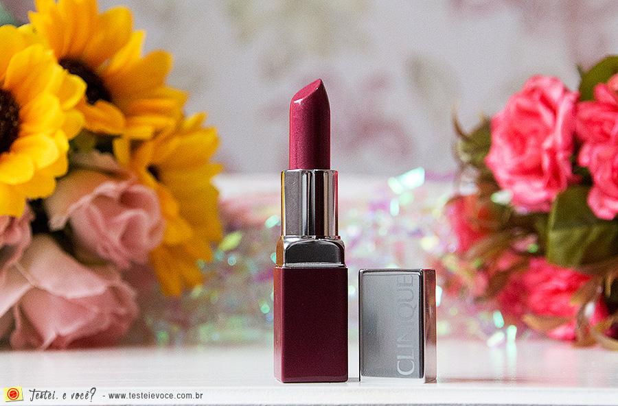 Batom Pop Lip Colour and Primer (Berry Pop) - Clinique