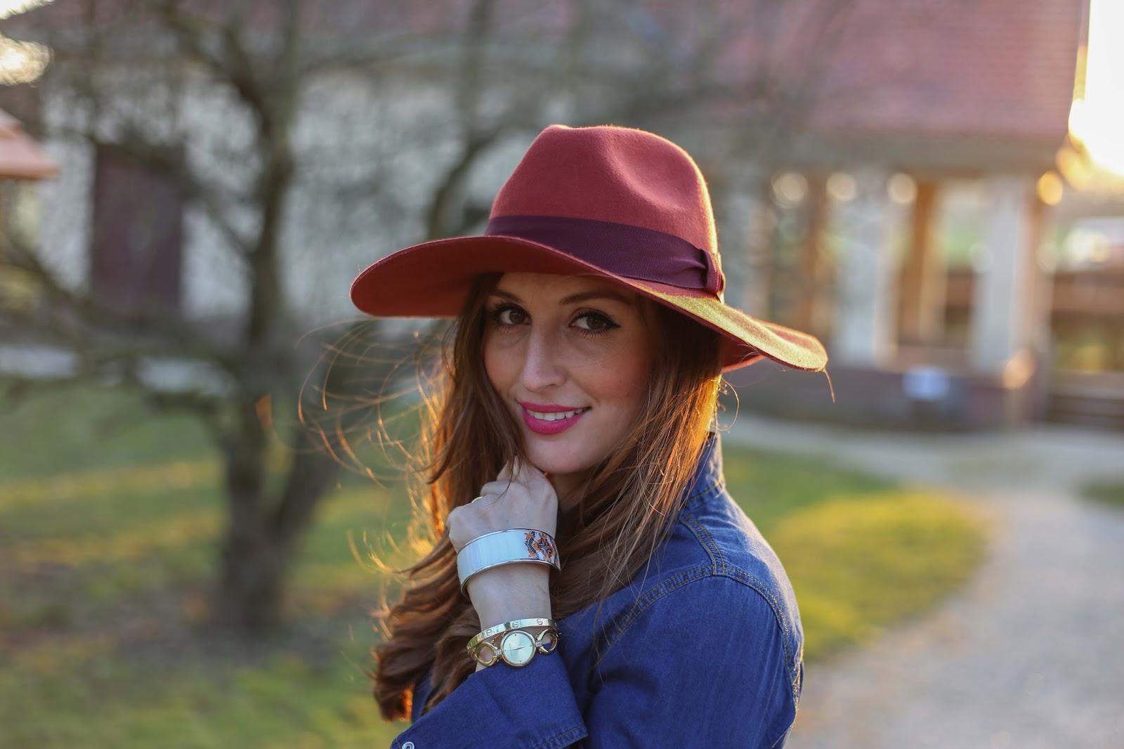 H&M Hut- Denim Look - Denim - Pinke Schuhe - Pinke Schuhe von Peter Kaiser Iris - Fashionblogger aus Deutschland