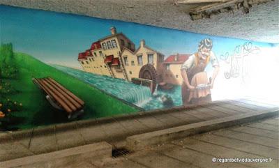 Street Art en Auvergne,  à Riom, Puy-de-Dôme.