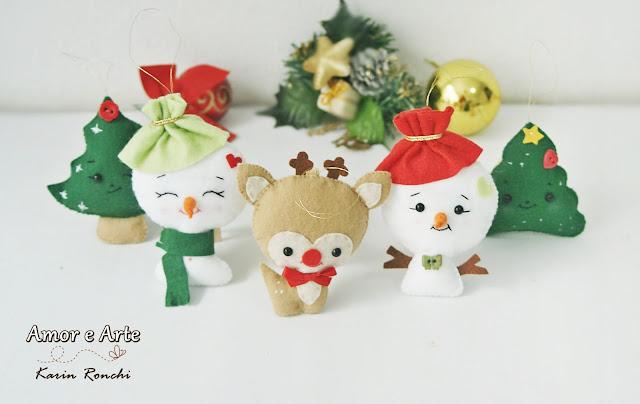Kit de ornamentos natalinos