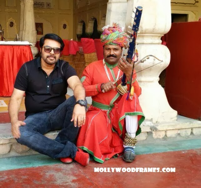 Mammootty in Rajasthan for 'Gangster' movie
