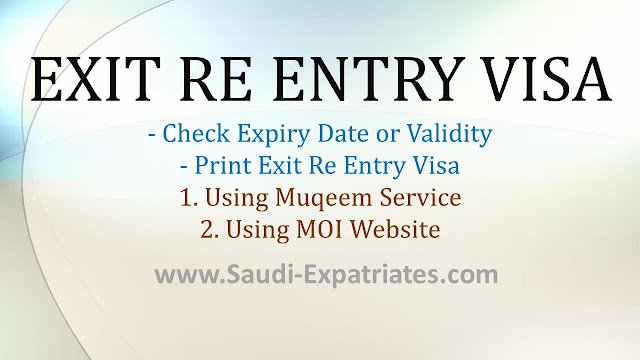 Check Exit Re Entry Visa Validity Expiry Date