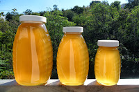 Three jars of honey