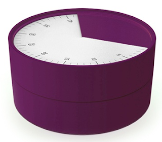 round timer, eggplant color