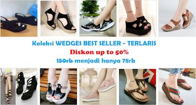 koleksi sendal sandal wedges 2018