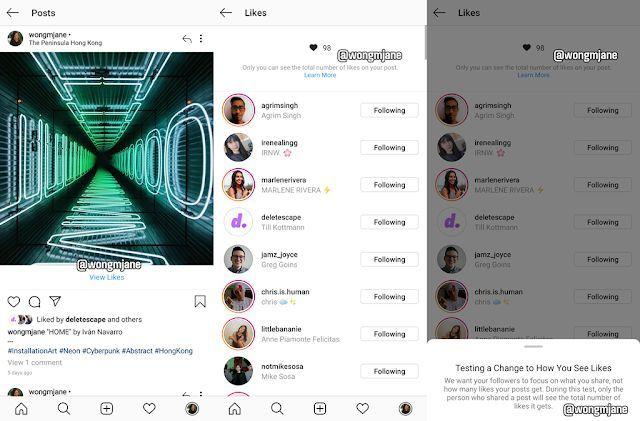 Instagram Uji Coba Menyembunyikan Jumlah Suka (Like)