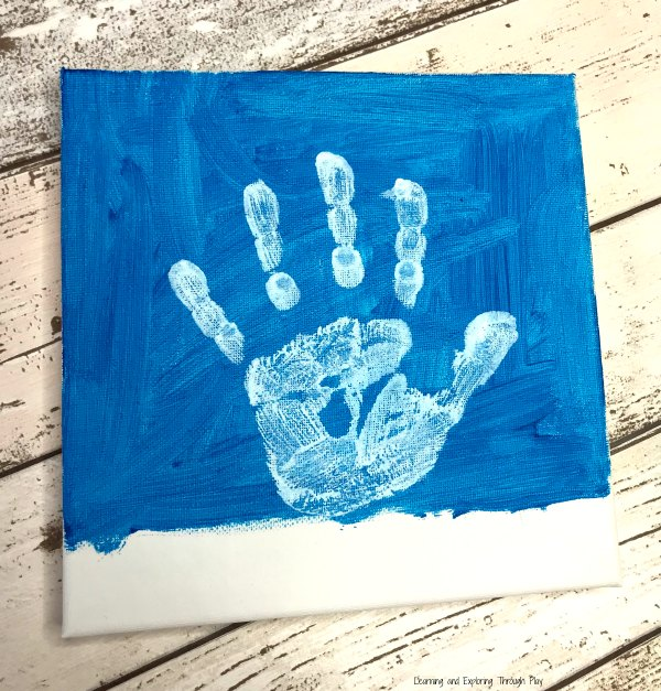 Snowman Handprint Canvas Keepsake
