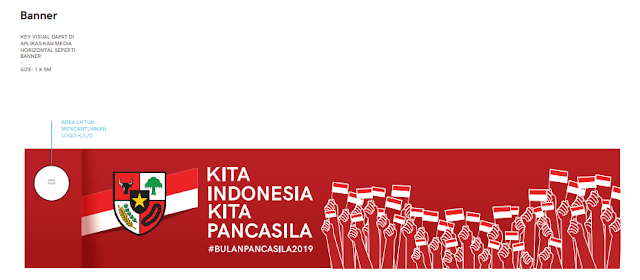 banner gambar logo Peringatan Hari Pancasila Tahun 2019