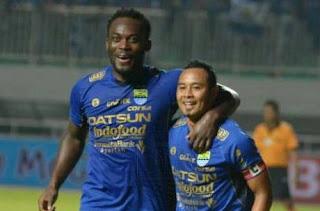 Skor akhir PS TNI vs Persib Bandung 2-2