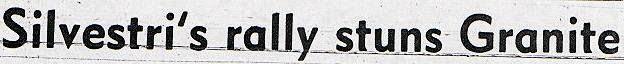 Silvestri' vs Granites August 19, 1981