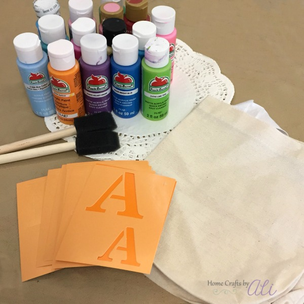 Craft Supplies To Make Stenciled Tote Bags