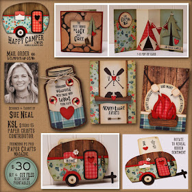 NEW ~ Happy Camper Cards