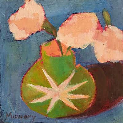 small floral painting by maryland artist barb mowery available in her etsy shop bbmowery