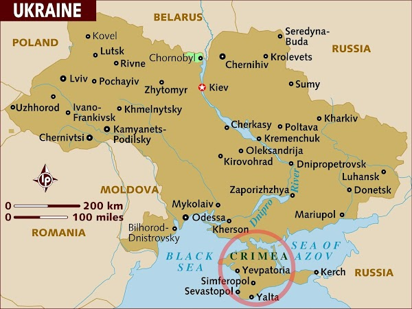 Map Of Russia And Ukraine And Crimea