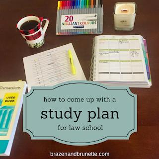 creating a study plan | brazenandbrunette.com