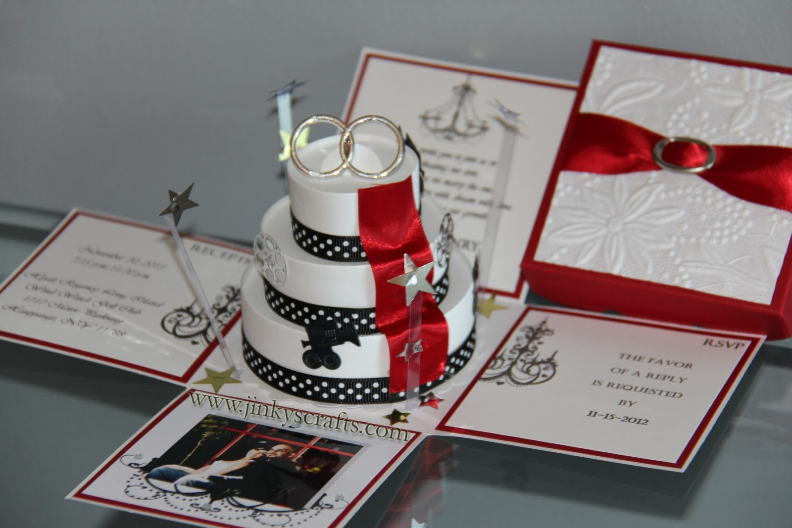 Wedding Invitation In A Box: Jinky's Crafts & Designs: March 2013