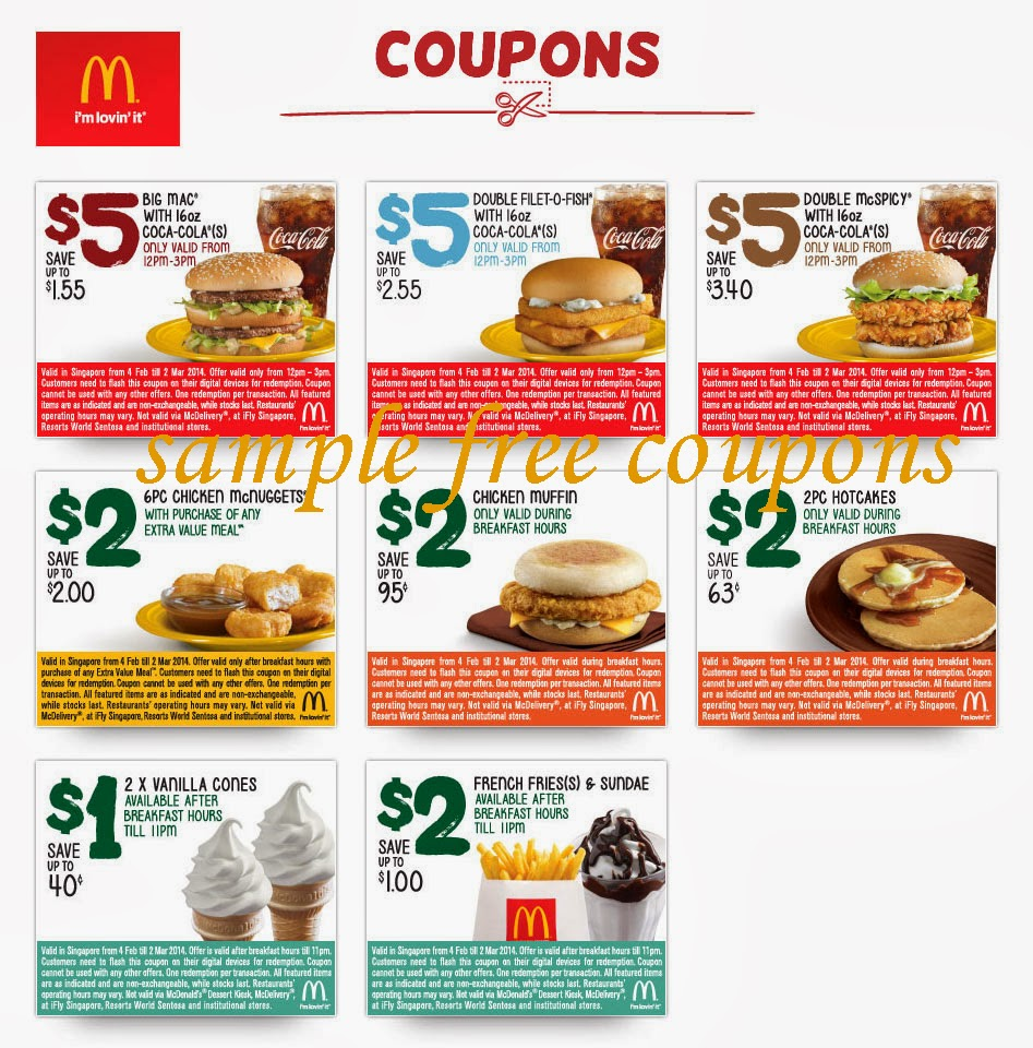 Fast Food Coupons Ontario Canada