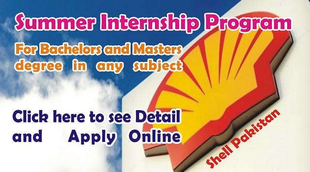 Internship Program at Shell Pakistan 2016