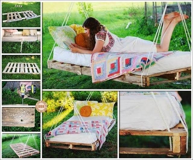 DIY Pallet Swing Bed For A Wonderful Summer 1