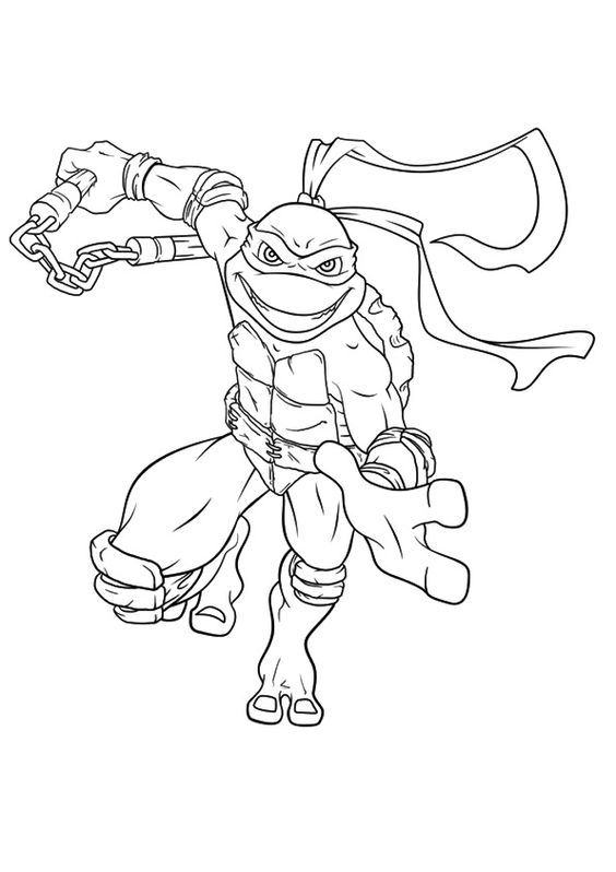 Tranh tô màu Ninja rùa 4