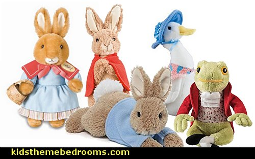 Peter Rabbit Flopsy Bunny, Benjamin Bunny Jemima Puddle Duck  Mr Jeremy Fisher