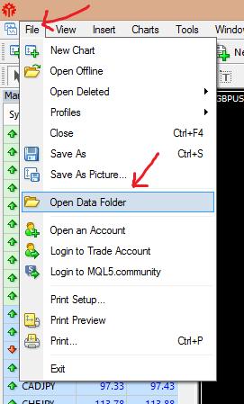 data folder mt4 build 600