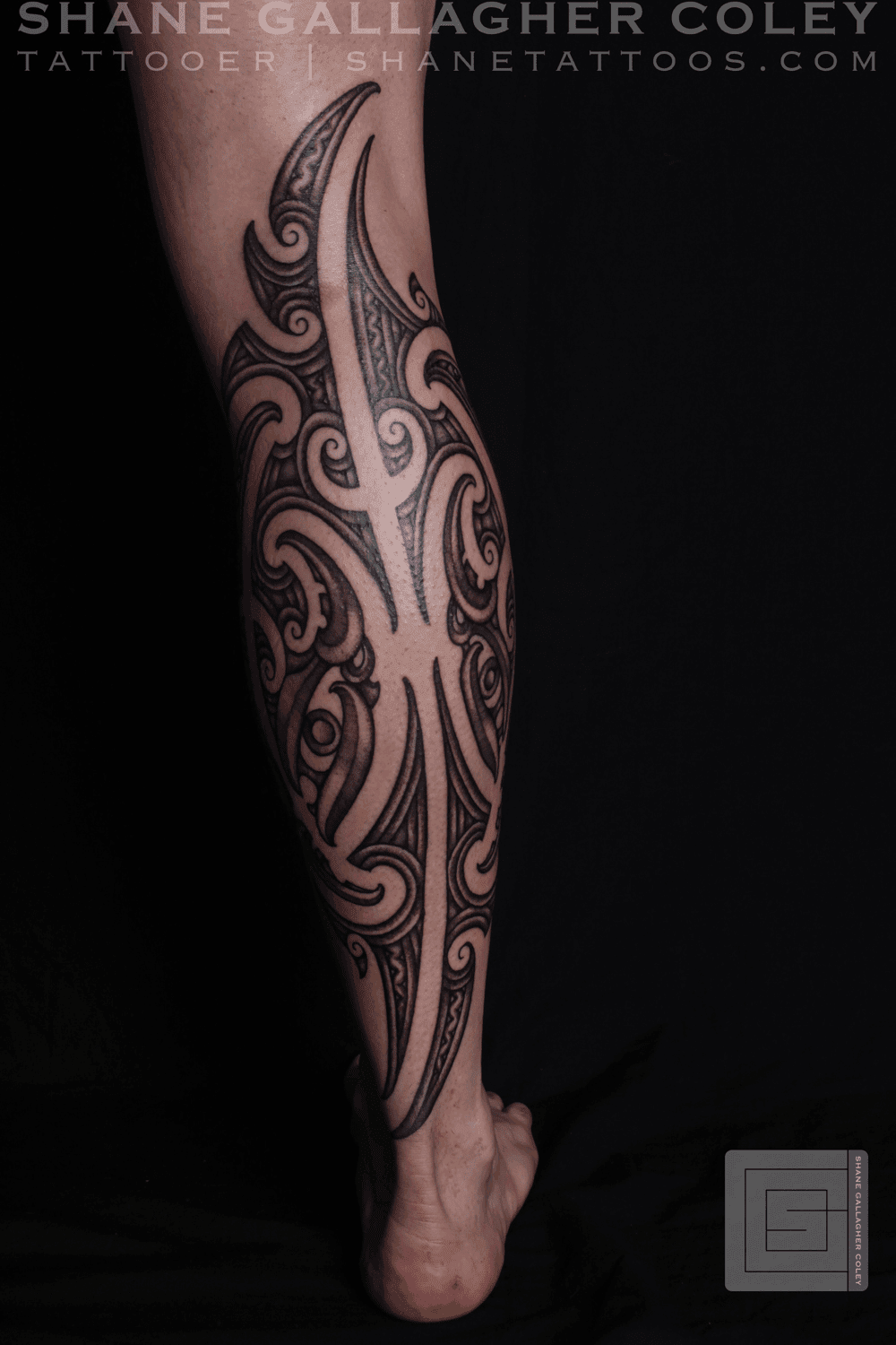 SHANE TATTOOS: Maori Calf Tattoo, Ta Moko