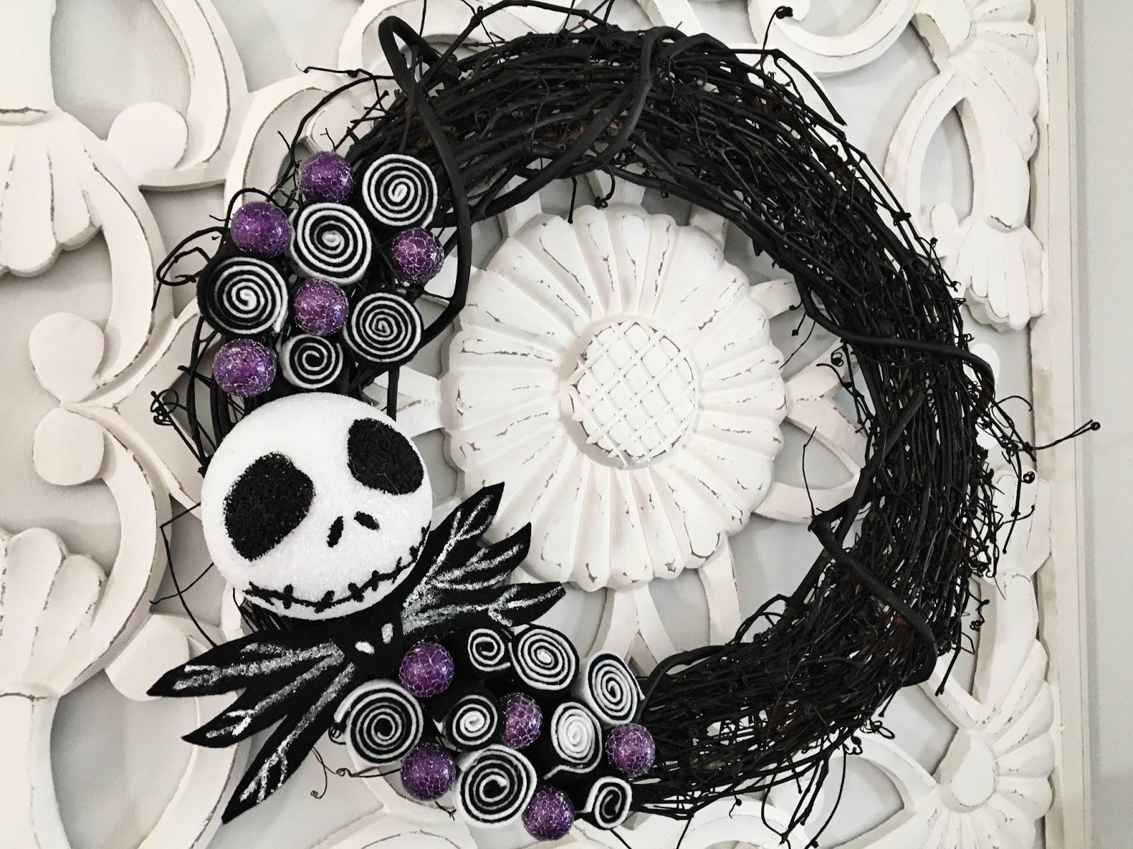Do Tell Anabel DIY Jack Skellington Halloween Wreath