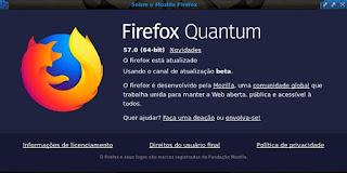 Firefox 57 versão Beta
