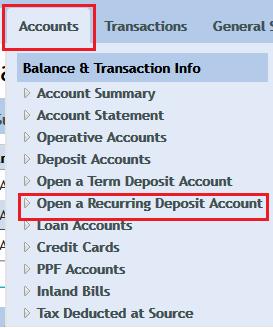 Open Online RD in Vijaya Bank