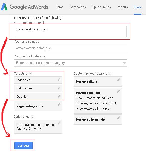 Riset Kata Kunci Dengan Google Keyword Planner Terbaru