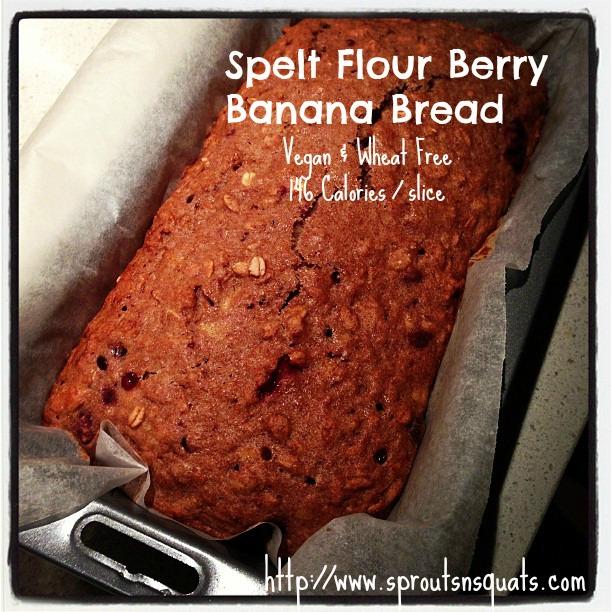 Spelt Flour Berry Banana Bread