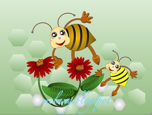 Bees need Flowers for Honey