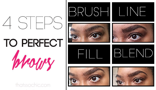 4 steps to perfect brows, beauty tips, brow tips