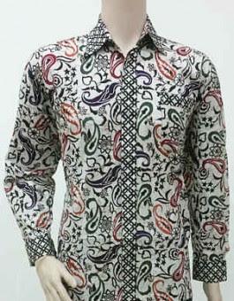 Baju Atasan Batik Keris Pria Lengan Panjang